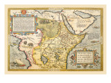 Map of Northeastern Africa Wall Decal by Abraham Ortelius