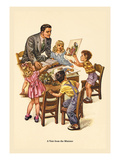 Visit from the Minister Wall Decal by Charlotte Ware