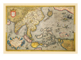 Map of South East Asia Wall Decal by Abraham Ortelius
