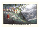 All Night Hunt with Sir Thomas Mostyn Wall Decal by Henry Thomas Alken