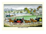 The Three Horse Teams Wall Decal by Henry Thomas Alken