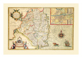 The Countie of Leinster, Ireland Wall Decal by John Speed