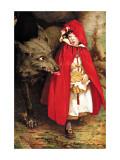 Le petit chaperon rouge Adhésif mural par Jessie Willcox-Smith