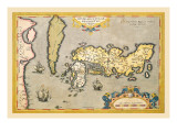 Map of Japan Wall Decal by Abraham Ortelius