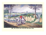 Mr. Muster's Hunted by His Hounds Wall Decal by Henry Thomas Alken