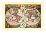 Orbis Terrarum Typus Autocollant mural par Jan Baptist Vrients