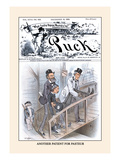 Puck Magazine: Another Patient for Pasteur Wall Decal by Frederick Burr Opper