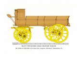 Heary Two-Horse Grain Delivery Wagon Wall Decal