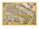 Map of Italy Wall Decal by Abraham Ortelius