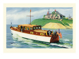 Mathews 46' Enclosed Bridge Deck Cruiser Wall Decal by Douglas Donald