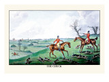 Fox Hunters and Hounds in an Open Field Wall Decal by Henry Thomas Alken