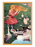 Goose Girl Wall Decal by Jessie Willcox-Smith