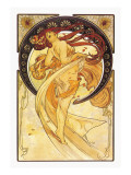 Dance Wall Decal by Alphonse Mucha