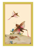 Italian Locusts Wall Decal by Edward Detmold