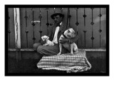 Bulldog, Master, and Pup Wall Decal
