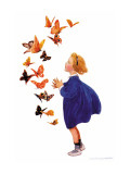 Les papillons Autocollant mural par Jessie Willcox-Smith