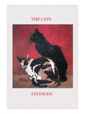 The Cats Wall Decal by Théophile Alexandre Steinlen