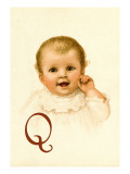 Baby Face Q Wall Decal by Ida Waugh