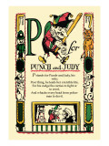 P for Punch and Judy Wall Decal by Tony Sarge