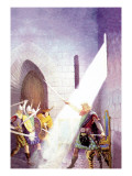 Wallace Draws the King's Sword Wall Decal by Newell Convers Wyeth