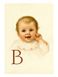 Baby Face B Wall Decal by Ida Waugh