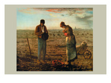 The Angelus Wall Decal by Jean-François Millet