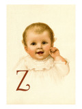 Baby Face Z Wall Decal by Ida Waugh