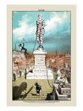 Puck Magazine: The National Metropolis Wallsticker af Joseph Keppler
