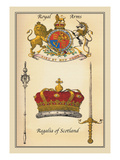 Royal Arms, Regalia of Scotland Wall Decal by Mutlow