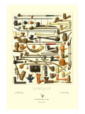 Afrique: Various Pipes Wall Decal
