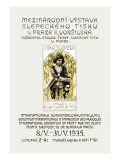 International Exhibition of Print for the Blind Wall Decal by Alphonse Mucha
