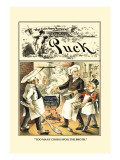 Puck Magazine: Too Many Cooks Spoil the Broth Wall Decal by Frederick Burr Opper