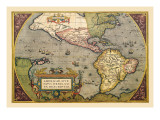Map of the Americas Wall Decal by Abraham Ortelius