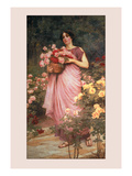 In a Garden of Roses Wall Decal by Richard Willes Maddox