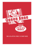 Queen Anne Pecan Roll Wall Decal