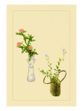 Thistle and Platycodon Wall Decal by Sofu Teshigahara