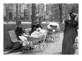 Perambulating Victorians, Philadelphia, Pennsylvania Wall Decal
