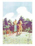 The Burial of Uncas Wall Decal by Newell Convers Wyeth