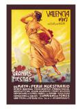 Valencia: Grande Fiestas de Mayo, 1917 Wall Decal by Enrique Pertegaz