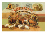 Halstead and Company Beef and Pork Packers Wall Decal by Richard Brown