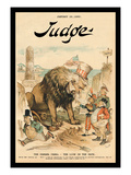 Judge Magazine: The Panama Canal the Lion in the Path Wall Decal by Bernhard Gillam