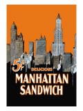 Manhattan Sandwich Autocollant mural