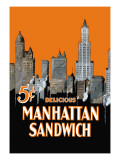 Manhattan Sandwich Wall Decal