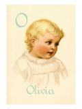 O for Olivia Wall Decal by Ida Waugh
