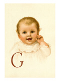 Baby Face G Wall Decal by Ida Waugh