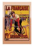 La Francaise: Bordeaux-Paris Bicycle Race Wallsticker af  Marodon