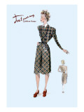 Casual Plaid Dress Wall Decal