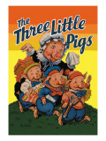 The Three Little Pigs Wall Decal by Milo Winter