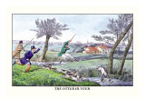 The Otter Hunter Wall Decal by Henry Thomas Alken