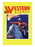 Western Story Magazine: under Fire Wall Decal